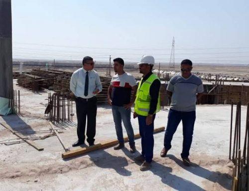 فريق هندسي يقوم بكشف ميداني لتطوير البنى التحتية للمعهد