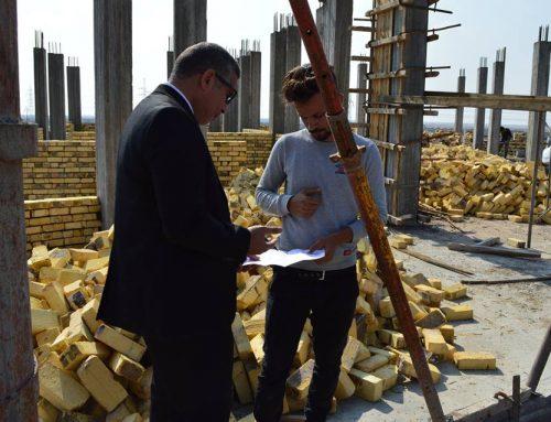 زيارة السيد عميد المعهد التقني في القرنة الى موقع المعهد الجديد