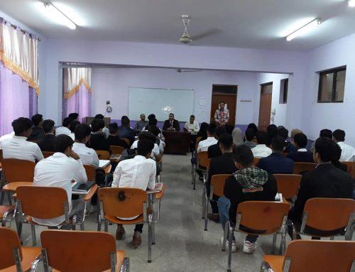 لقاء عميد المعهد بطلبة المرحلة الاولى للعام الدراسي ٢٠١٩/٢٠١٨